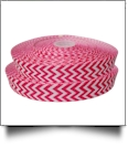 "Chevron Grosgrain Ribbon in Hot Pink - 7/8"" x 1 Yard"