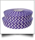 "Chevron Grosgrain Ribbon in Purple - 7/8"" x 1 Yard"