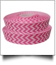 "Chevron Grosgrain Ribbon in Pink - 7/8"" x 1 Yard"