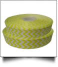 "Chevron Grosgrain Ribbon in Yellow - 7/8"" x 1 Yard"
