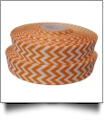 "Chevron Grosgrain Ribbon in Orange - 7/8"" x 1 Yard"