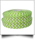 "Chevron Grosgrain Ribbon in Lime - 7/8"" x 1 Yard"