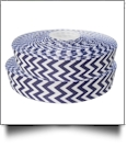 "Chevron Grosgrain Ribbon in Navy - 7/8"" x 1 Yard"