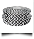 "Chevron Grosgrain Ribbon in Black - 7/8"" x 1 Yard"