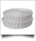 "Chevron Grosgrain Ribbon in Gray - 7/8"" x 1 Yard"