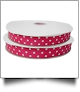 "Dottie Grosgrain Ribbon in Hot Pink - 7/8"" x 1 Yard"