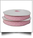 "Dottie Grosgrain Ribbon in Light Pink - 7/8"" x 1 Yard"