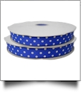 "Dottie Grosgrain Ribbon in Royal Blue - 7/8"" x 1 Yard"