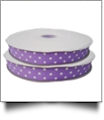 "Dottie Grosgrain Ribbon in Lavender - 7/8"" x 1 Yard"
