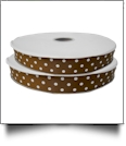 "Dottie Grosgrain Ribbon in Brown - 7/8"" x 1 Yard"