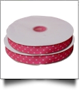 "Dottie Grosgrain Ribbon in Pink - 7/8"" x 1 Yard"