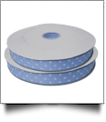 "Dottie Grosgrain Ribbon in Light Blue - 7/8"" x 1 Yard"