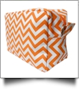 Chevron Cosmetic Bag Embroidery Blanks - ORANGE
