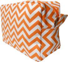 Chevron Cosmetic Bag Embroidery Blanks - ORANGE - CLOSEOUT