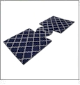 Unsewn 12oz Can Coolie Embroidery Blanks - NAVY BLUE MOROCCAN QUATREFOIL - CLOSEOUT