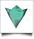 Pocket Square Handkerchief Embroidery Blanks - EMERALD - CLOSEOUT