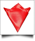 Pocket Square Handkerchief Embroidery Blanks - POPPY RED - CLOSEOUT
