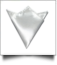 Pocket Square Handkerchief Embroidery Blanks - SILVER - CLOSEOUT