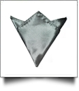 Pocket Square Handkerchief Embroidery Blanks - CARBON GRAY - CLOSEOUT