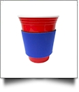 Unsewn Coffee & Stadium Cup Coolie Embroidery Blanks - ROYAL BLUE - CLOSEOUT