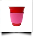 Unsewn Coffee & Stadium Cup Coolie Embroidery Blanks - HOT PINK - CLOSEOUT