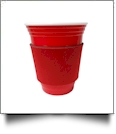Unsewn Coffee & Stadium Cup Koozie Embroidery Blanks - RED