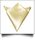 Pocket Square Handkerchief Embroidery Blanks - GOLD - CLOSEOUT