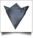 Pocket Square Handkerchief Embroidery Blanks - DARK CHARCOAL - CLOSEOUT