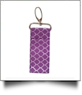 Quatrefoil Print Chapstick Holder - PURPLE