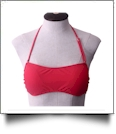 Bandeau Bikini Swimsuit Top - STRAWBERRY SORBET - CLOSEOUT