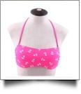 Bandeau Bikini Swimsuit Top - HOT PINK ANCHOR - CLOSEOUT