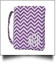 Bible Cover with Zipper Closure - PURPLE CHEVRON