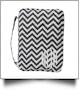 Bible Cover with Zipper Closure - BLACK CHEVRON