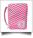 Bible Cover with Zipper Closure - HOT PINK CHEVRON
