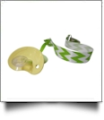 Chevron Print Pacifier Holder Clip - LIME