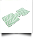 Unsewn 12oz Can Coolie Embroidery Blanks - MINT CHEVRON - CLOSEOUT