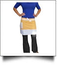 "Polka Dot Half Apron Embroidery Blanks - 31"" x 15.5"" - YELLOW"