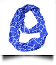 Quatrefoil Jersey Knit Infinity Scarf Embroidery Blanks - ROYAL BLUE