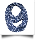 Quatrefoil Jersey Knit Infinity Scarf Embroidery Blanks - NAVY
