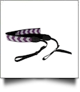 The Coral Palms™ Camera Strap - PURPLE CHEVRON - CLOSEOUT