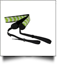 Camera Strap Embroidery Blanks - LIME CHEVRON - CLOSEOUT