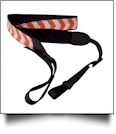 Camera Strap Embroidery Blanks - ORANGE CHEVRON - CLOSEOUT