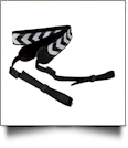 Camera Strap Embroidery Blanks - BLACK CHEVRON - CLOSEOUT