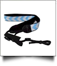 Camera Strap Embroidery Blanks - AQUA CHEVRON