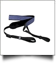 Camera Strap Embroidery Blanks - NAVY QUATREFOIL - CLOSEOUT