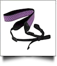 Camera Strap Embroidery Blanks - PURPLE QUATREFOIL