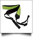 Camera Strap Embroidery Blanks - LIME QUATREFOIL - CLOSEOUT