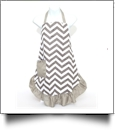 Full Length Chevron Apron Embroidery Blanks - GRAY