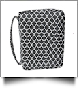 Bible Cover with Zipper Closure - BLACK QUATREFOIL