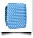 Bible Cover with Zipper Closure - AQUA QUATREFOIL